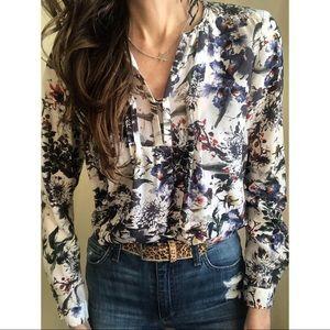 Rebecca Taylor silk floral blouse